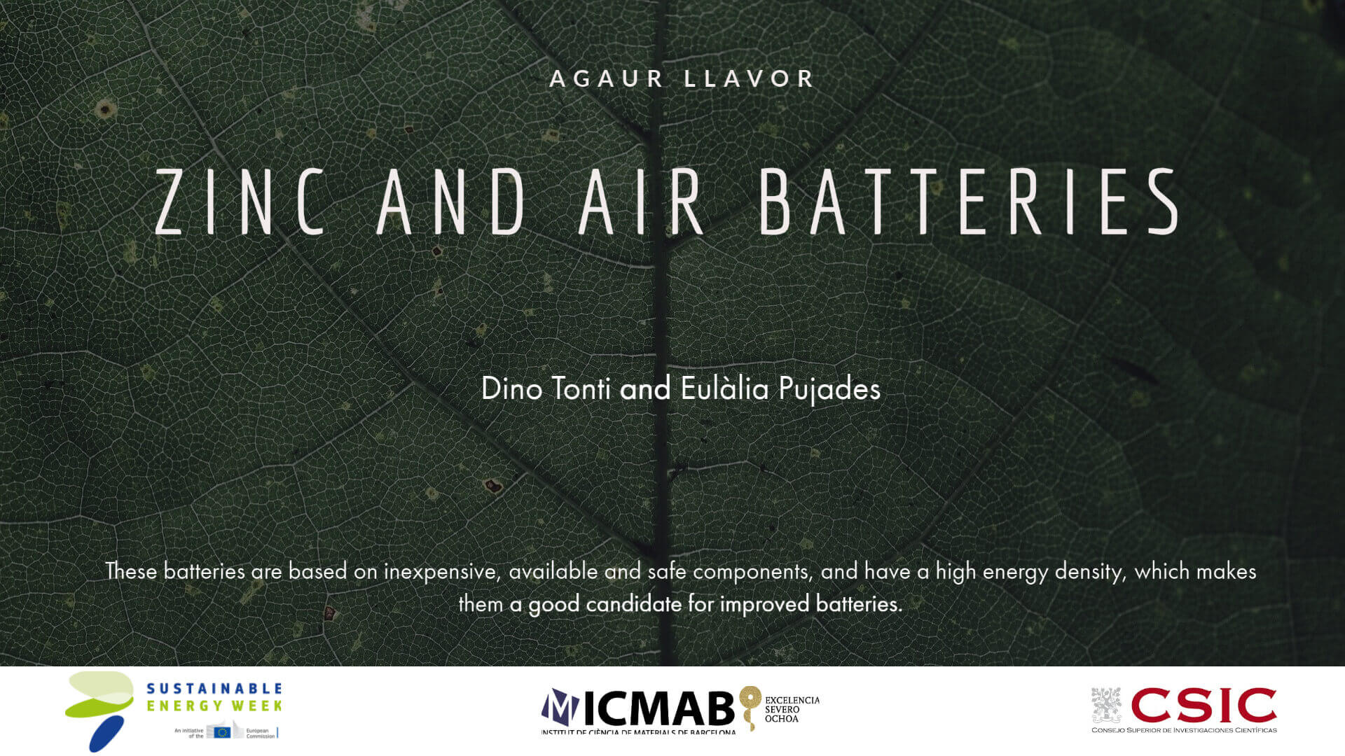 ZINC AND AIR BATTERIES