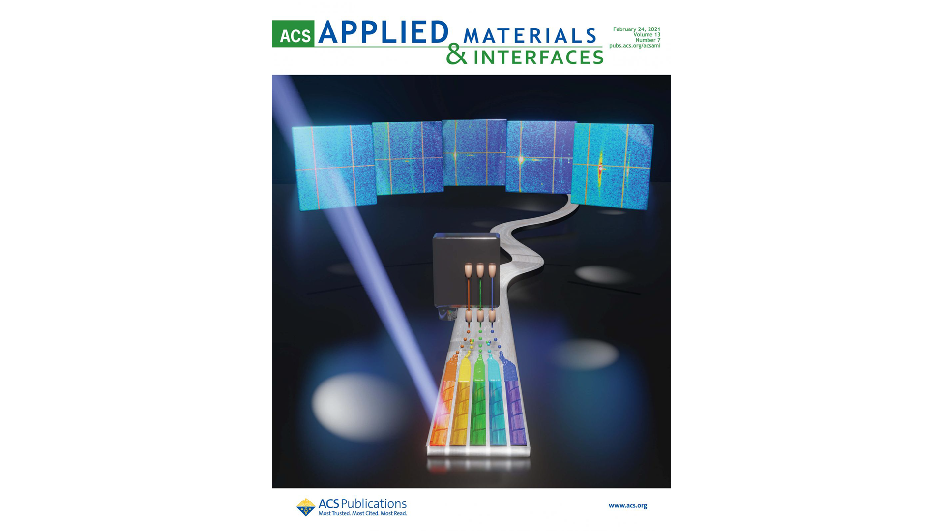 "Cover in ACS Appl. Mater. Interfaces ""Combinatorial Screening of Cuprate Superconductors by Drop-On-Demand Inkjet Printing"""